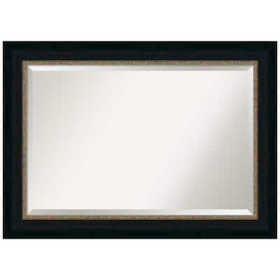 Medium Rectangle Paragon Bronze Beveled Glass Casual Mirror (31 in. H x 43 in. W)