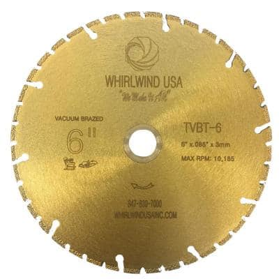 6 in. 40-Teeth Segmented Diamond Blade for Dry or Wet Cutting Metal and Plastic Materials