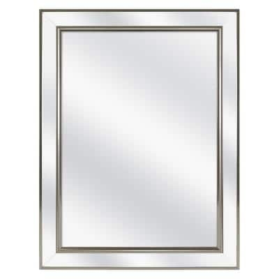 20-1/8 in. W x 26 in. H Fog Free Framed Recessed or Surface-Mount Mirror Bathroom Medicine Cabinet in Brushed Nickel