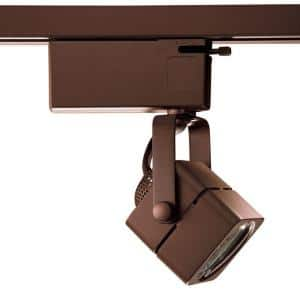 901 Series Low-Voltage MR16 Oil-Rubbed Bronze Soft Square Track Lighting Fixture