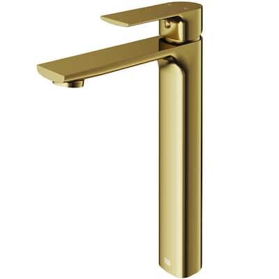 Norfolk Single-Handle Vessel Sink Faucet in Matte Gold