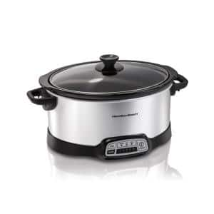 7 Qt. Programmable Stainless Steel Slow Cooker with Built-In Timer and Temperature Settings