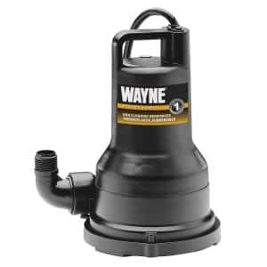 1/2 HP Non-Clogging Vortex, Reinforced Thermoplastic Submersible Utility Pump