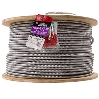 12/3 x 1,000 ft. Stranded CU MC (Metal Clad) Armorlite Cable