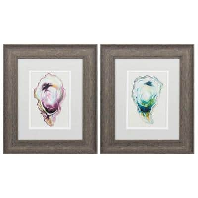 Victoria 10 in. Brushed Brown Gallery Frame (Set of 2)