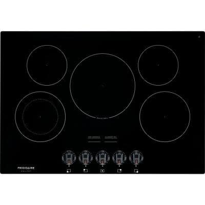 30 in. Radiant Electric Cooktop in Black with 5 Elements