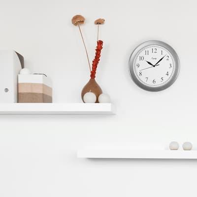10 in. Silver Quartz Analog Wall Clock