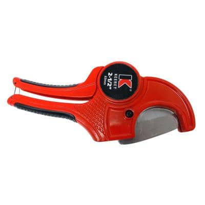 Up to 2-1/2 in. PVC Pipe Cutter with Ratcheting Mechanism