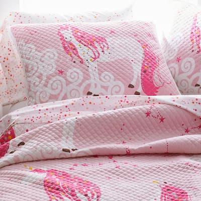 Unicorn Multicolored Cotton Jersey Textured Standard Sham