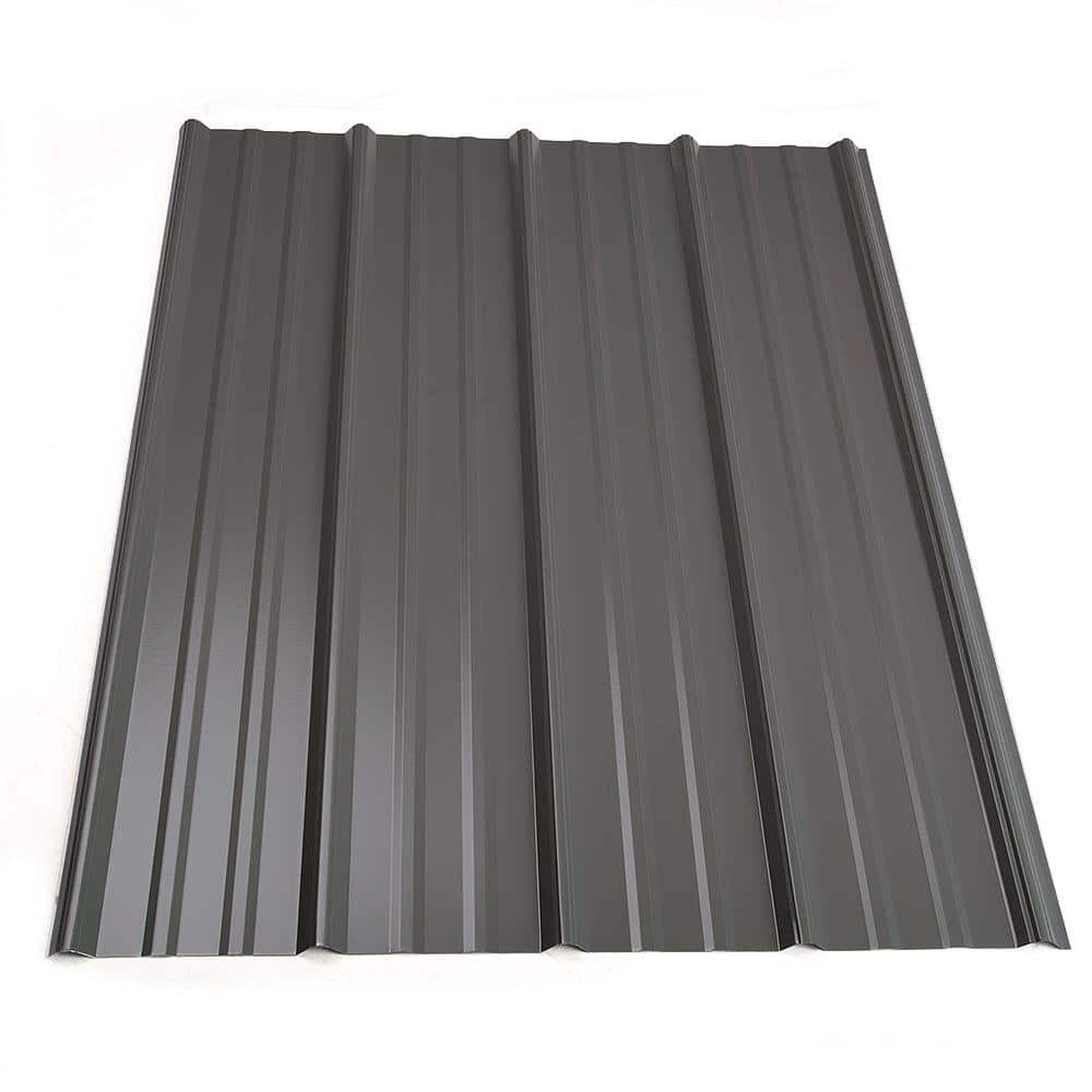 Metal Sales 12 Ft Classic Rib Steel Roof Panel In Charcoal 2313417 The Home Depot