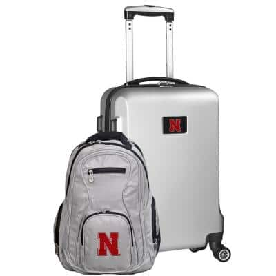 Nebraska Cornhuskers Deluxe 2-Piece Backpack and Carry on Set