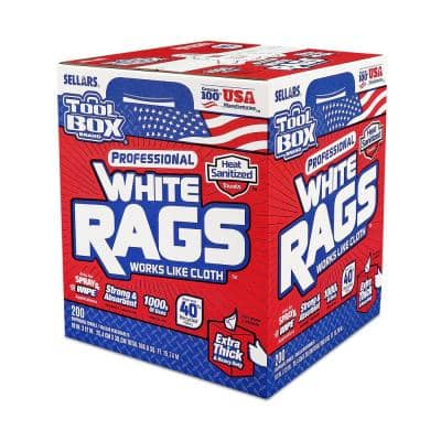 White Rags (200-Count) (Box)