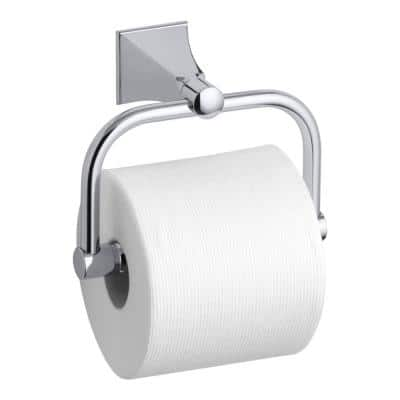 Memoirs Wall-Mount Single Post Toilet Paper Holder with Stately Design in Polished Chrome