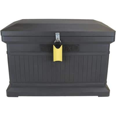 ParcelWirx Graphite Horizontal Lockable with Smart Lock Package Delivery Box