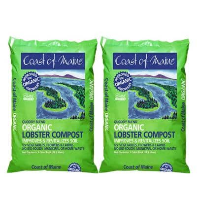 Quoddy Blend Lobster Compost Plant Soil, 1 cub. ft. (2-Pack)