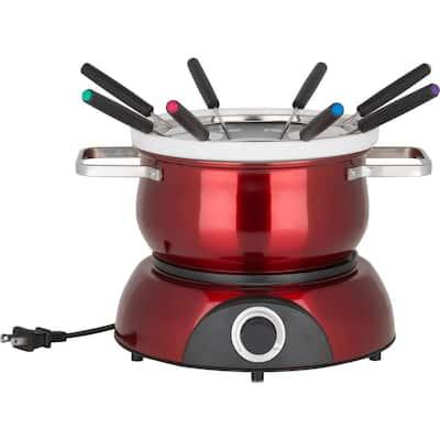 Scarlet Stainless Steel 3-In-1 Electric Fondue Pot Set