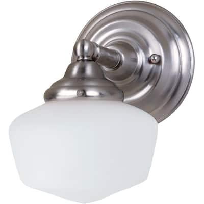 Academy 1-Light Brushed Nickel Sconce