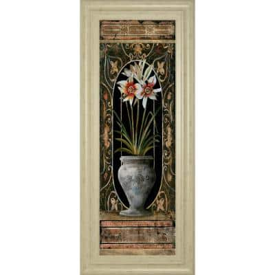 """""""Blanco Botanical Il"""" By Douglas Framed Print Abstract Wall Art 42 in. x 18 in."""