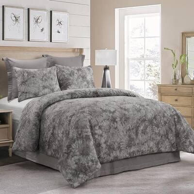 Granada 3-Piece Grey Cotton King Comforter Set