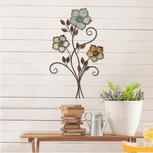 Tricolor Flower Wall Decor