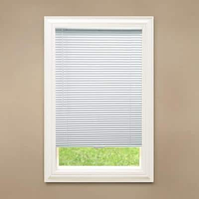 White Cordless Blackout 1 in. Vinyl Mini Blind for Window or Door - 35 in. W x 48 in. L