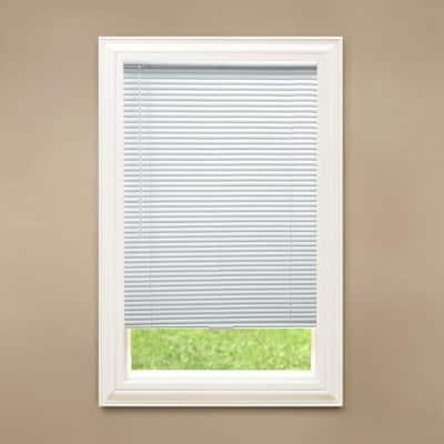 White Cordless Blackout 1 in. Vinyl Mini Blind for Window or Door - 34.5 in. W x 72 in. L