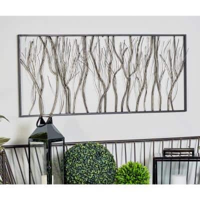 Iron Gray Twigs and Branches Metal Work