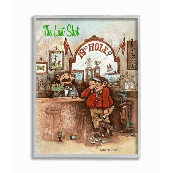 Stupell Industries The Last Shot Funny Golf Cartoon By Gary Patterson Framed Sports Wall Art 14 In X 11 In Fda 188 Gff 11x14 The Home Depot