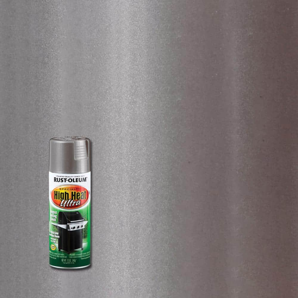 Rust-Oleum Specialty 12 oz. High Heat Ultra Semi-Gloss Silver Spray Paint