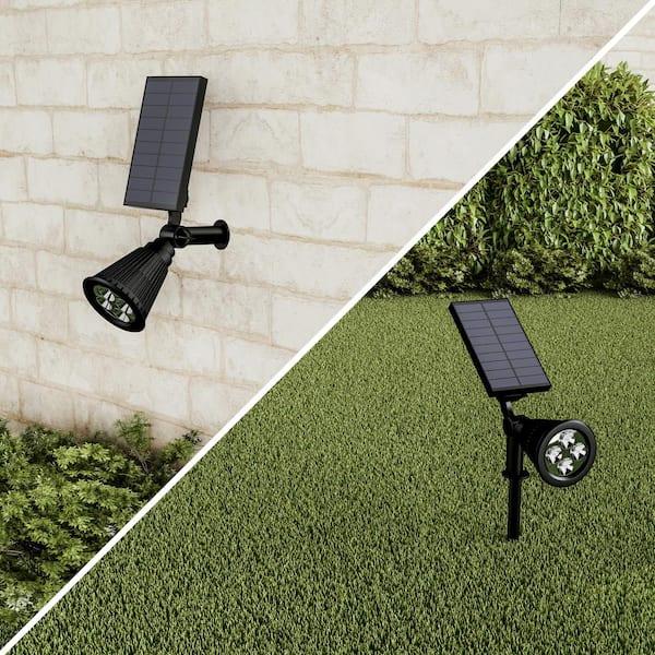 Pure Garden Black Outdoor Integrated, Outdoor Spot Lights Garden