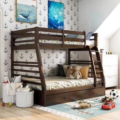 Full Bunk Beds Kids Bedroom Furniture The Home Depot