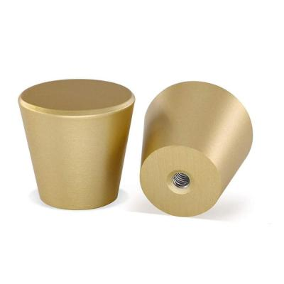 Brizza 1 in. (25 mm) Brushed Solid Brass Gold Round Cabinet Knob (25-Pack)
