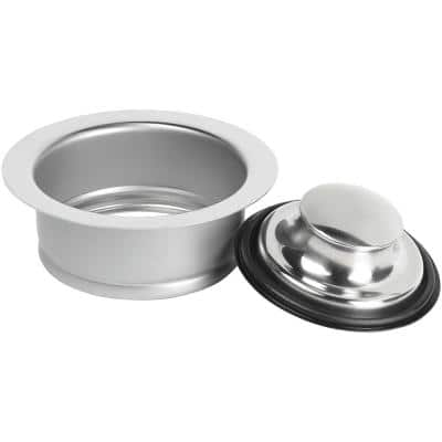 Garbage Disposal Rim and Stopper - Stainless steel finish