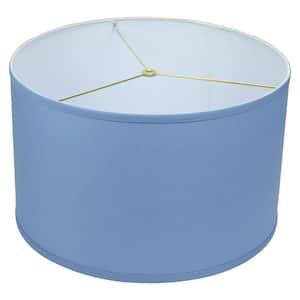18 in. Top Diameter x 18 in. Bottom Diameter x 11 in. H Linen Periwinkle Drum Lamp Shade