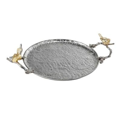Lavada Decorative Nickel, Gold Medium Tray