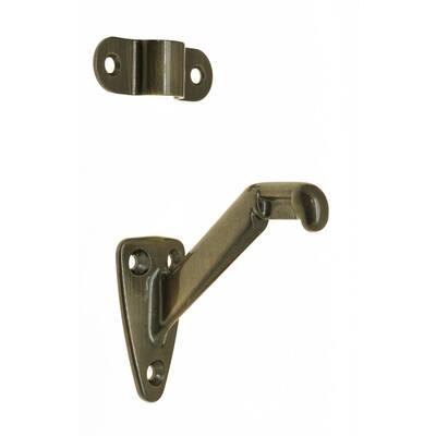 3-1/4 in. Solid Brass Hand Rail Bracket in Antique Brass