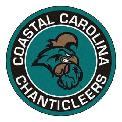 NCAA Coastal Carolina 27 in. Round Roundel Mat Area Rug