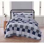 Evangeline 5-Piece Blue King Quilt Set