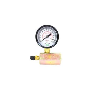 0 - 15 psi 2 in. Dial Gas 3/4 in. Brass FNPT Test Gauge (2-Pack)