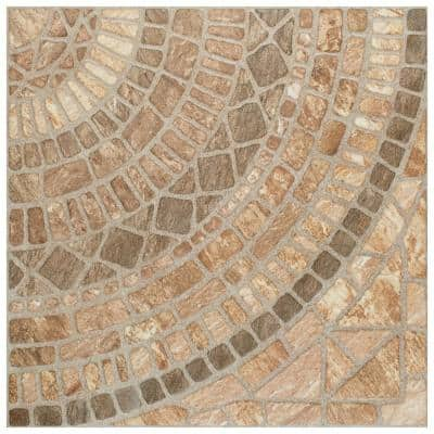 Terra Beige 17-3/4 in. x 17-3/4 in. Ceramic Floor and Wall Tile (22.5 sq. ft. / case)