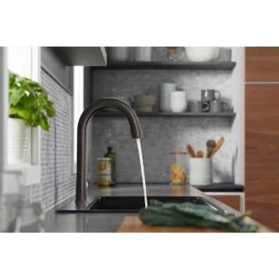 Sensate Single-Handle Pull-Down Sprayer Kitchen Faucet with KOHLER Konnect in Oil-Rubbed Bronze