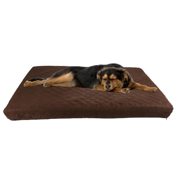 Pet Trex Large Brown Waterproof Memory, Waterproof Outdoor Dog Bed Cover