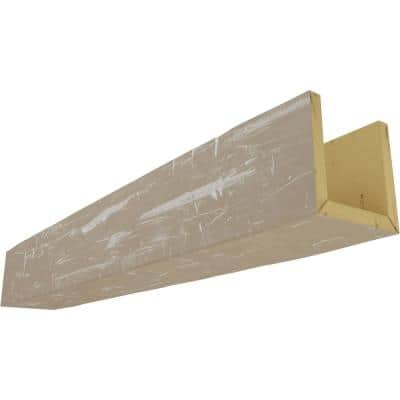 8 in. x 12 in. x 10 ft. 3-Sided (U-Beam) Hand Hewn White Washed Faux Wood Ceiling Beam