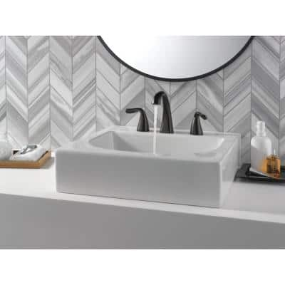 Arvo 8 in. Widespread 2-Handle Bathroom Faucet in Matte Black