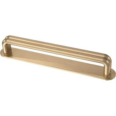 Urbane Wire 5-1/16 in. (128 mm) Champagne Bronze Drawer Pull with Backplate