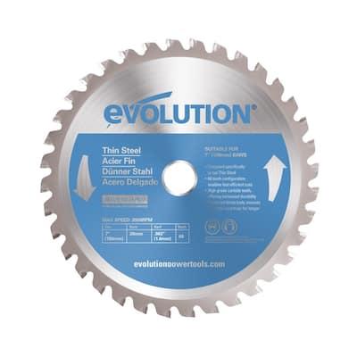 7 in. 68-Teeth Thin Steel Cutting Saw Blade