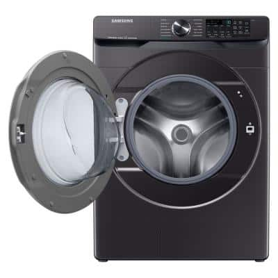 5.0 cu. ft. Extra-Large Capacity Smart Front Load Washer with Super Speed Wash in Brushed Black