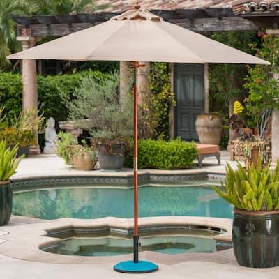 Harrison 35 lbs. Concrete Patio Umbrella Base in Teal