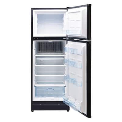 9.7 cu. ft. Propane Top Freezer Refrigerator Dual Powered in Black