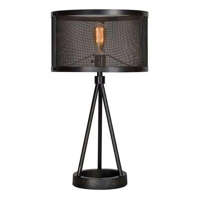 Livingstone 26.5 in. Black Table Lamp